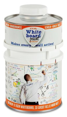 Whiteboardverf 0,5 ltr wit glanzend