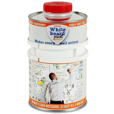 Whiteboardverf 0,5 ltr transparant glanzend