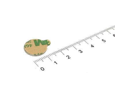 Zelfklevende schijfmagneet 15x1 mm