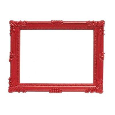 Magnetisch fotoframe kleur Rood  - klassiek