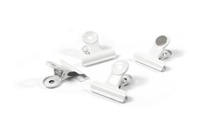 Clip magneten Graffa White - set van 4 witte metalen magneten
