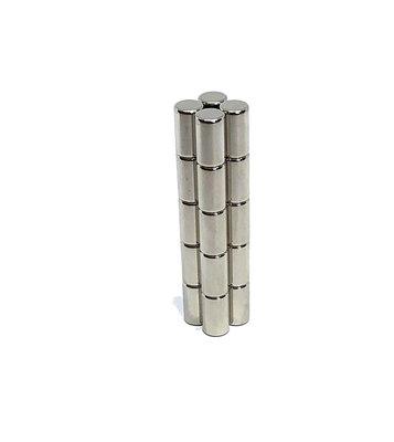 Sterke cylinder magneetjes neodymium 5 x 9 mm - set van 20 stuks