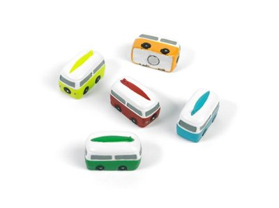 Gekleurde camper magneten - set van 5