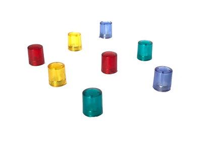 Transparant gekleurde neodymium glasboard magneten - 2 x 4 kleuren