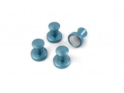 Magneet Magic Mini-Max Blauw metallic - set van 4 extra sterke metalen magneten