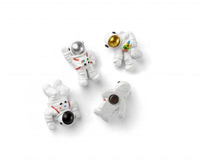 Astronaut magneten 'Space' van - set van 4 stuks