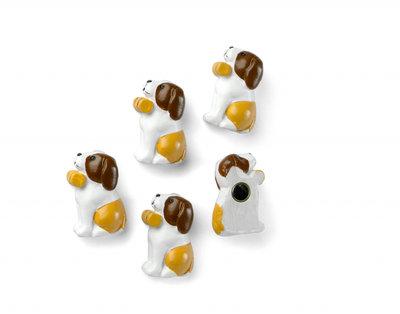 Honden magneten 'Barry' - set van 5 stuks