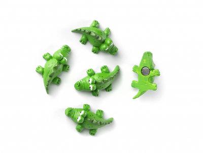 Magneetset 'Kroko' - 5 stuks krokodil magneten