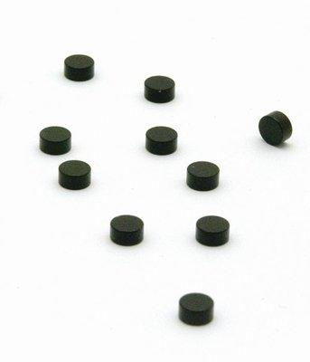 Magneet Steely - set van 10 stuks - Zwart