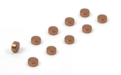 Magneet Steely - set van 10 koperen magneetjes