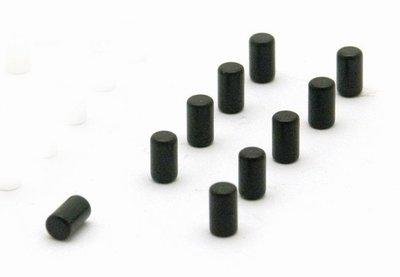 Magneet Magnum - set van 10 stuks zwarte magneten