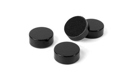 Magneet Disk - zwart extra sterke metalen magneten - set van 4 stuks