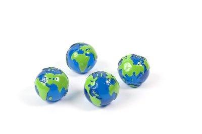 Magneet Globe - set van 4 wereldbol magneten