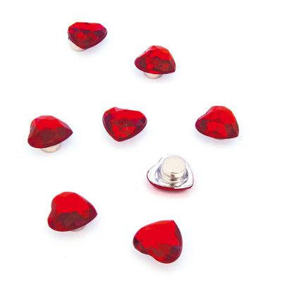Sterke diamanten hart magneetjes  - set van 8 stuks