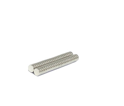 Voordeelset 50 stuks neodymium schijfmagneetjes 6 x 2 mm N45
