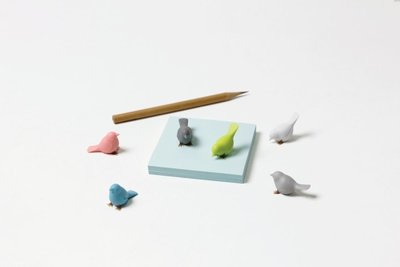 Mini Sparrow magneten Pastel - set van 6 schattige mus magneten in pastelkleuren