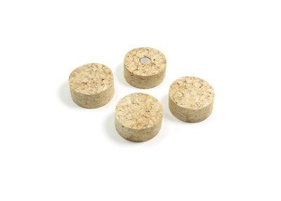 Kurken magneten Cork Disk - set van 4 superleuke magneten van kurk