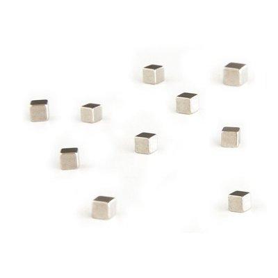 Magneet Kubiq - silver - set van 10 magneetjes