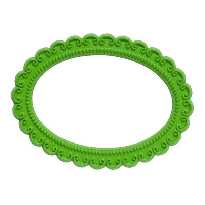 Magnetisch fotoframe kleur groen - ovaal