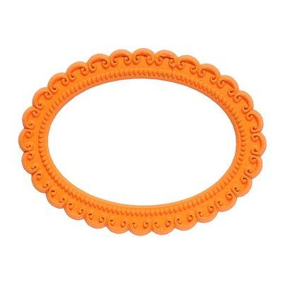 Magnetisch fotoframe kleur oranje - ovaal