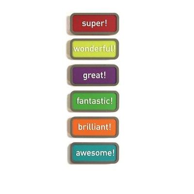 Motivatie magneten Expression - set van 6 magneten met een motiverende uitdrukking