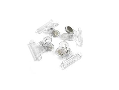 Transparante magneetklemmen - set van 4 stuks