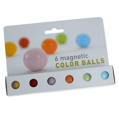 Color Balls magneten diverse kleuren - set van 6 stuks