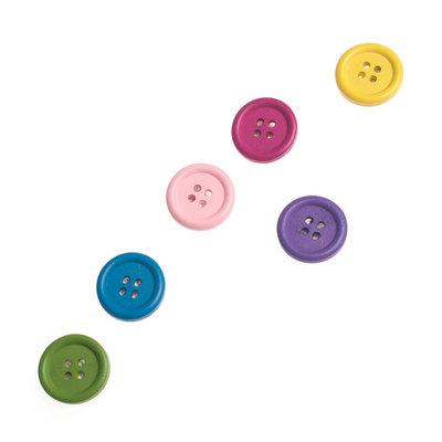 Knoop magneten diverse kleuren - set van 6 stuks