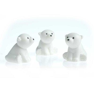 Leuke ijsbeer magneten - set van 3 stuks