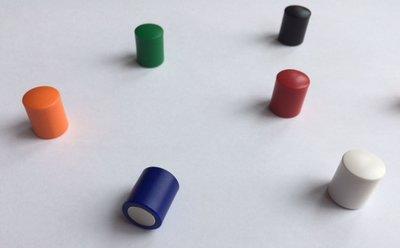 Gekleurde neodymium glasboardmagneten - set van 7 stuks