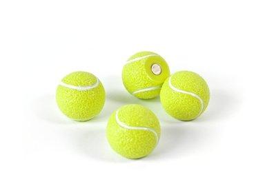 Tennisbal magneten Roger - set van 4 magnetische tennisballetjes