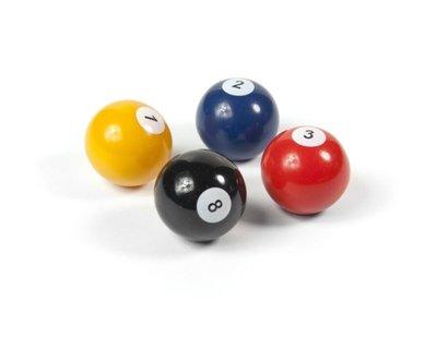 Biljartballen magneten - set van 4 ballen
