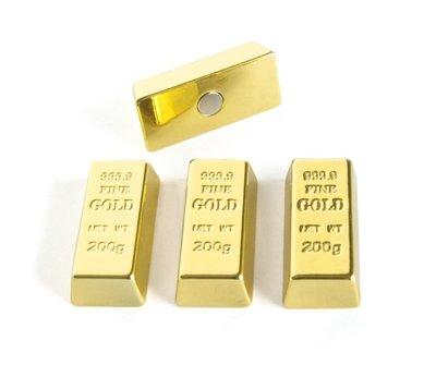 Goudstaaf magneten Gold bars - set van 4 magneten