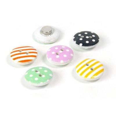 Magnet Shirley - set van 6 verschillende knoop magneten