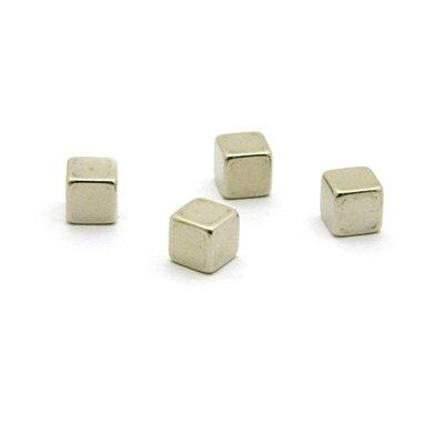 Kubus magneten Magic Cube - set van 4 supersterke RVS magneten