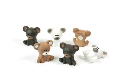 Beren magneten - set van 6 schattige beertjes