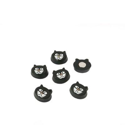 Leuke kattenhoofdjes magneten Kitty Cat - set van 6 stuks