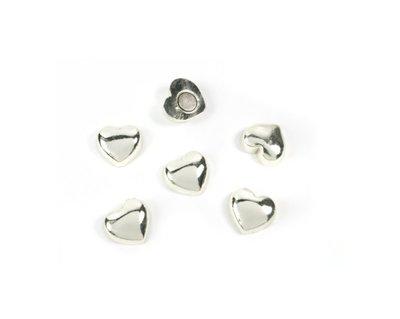 Hartjes magneten Sweetheart silver - set van 6 magneten