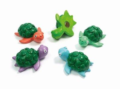 Schildpad magneten 'turtle' - set van 5 stuks