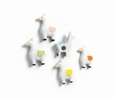Leuke lama magneten - set van 5 stuks