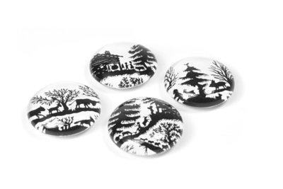 Magneet Eye - Swiss Folks - set van 4 glazen magneten