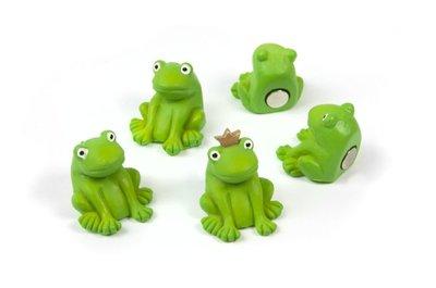 Kikker magneten - set van 5 stuks