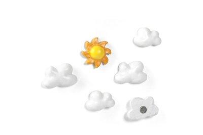 Wolken magneten Sky - set van 6 stuks