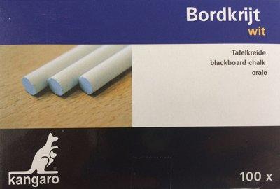 Schoolbordkrijt wit - doos met 100 stuks