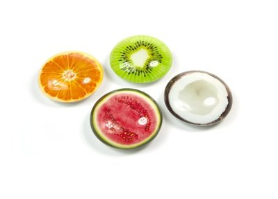 Magneet Eye - Juicy - set van 4 glazen fruit magneten