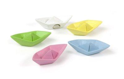 Papierbootjes magneten - set van 5 stuks