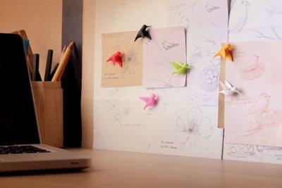 vogeltjes magneten Hummingbird - set van 6 stuks