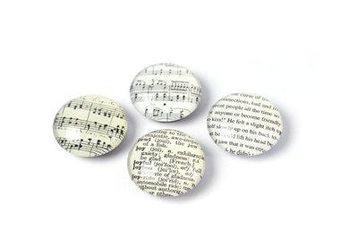 Fine Arts magneten van glas - set van 4 stuks