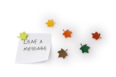 Leaf a Message Magneten - set van 6 stuks