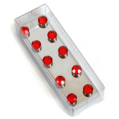 Sterke diamant magneetjes Rood - set van 10 stuks